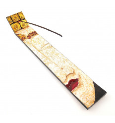 Incense holders in wood asian style for sticks.