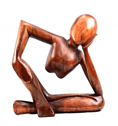 statuette bois moderne penseur de rodin achat pas cher