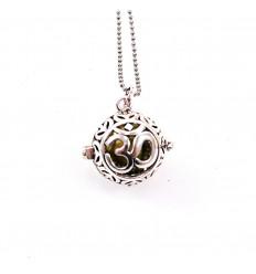 Bola de grossesse Symbole Ôm avec chaîne longue en métal argenté