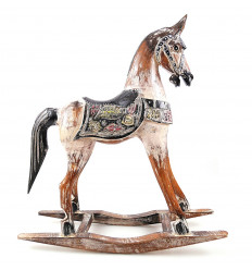 Rocking horse in wood, purchase statue retro vintage nostalgic.