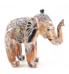 Statuette éléphant en bois vintage. Achat éléphant pas cher.