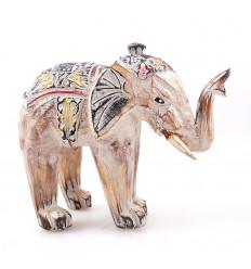 Statuetta elefante bianco di una casa di legno in tutto il mondo. Acquistare a buon mercato.