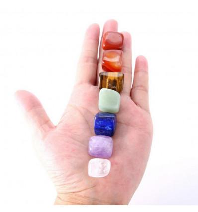 """Charm Bracelet """"7 chakras"""". Jewellery in semi-precious stones."""