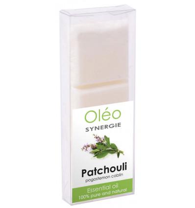 Cire végétale parfumée à l'huile essentielle de patchouli Drake Oléo.