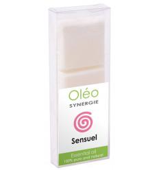 Cera profumata con oli essenziali afrodisiaci, aromaterapia.