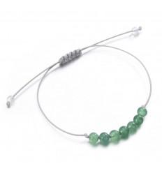 "Bracelet Porte-bonheur ""Sagesse"" en aventurine verte."