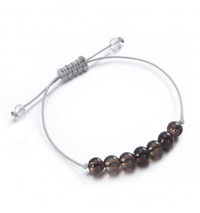 Charm Bracelet in smoky quartz morion, lucidity, and maturity.