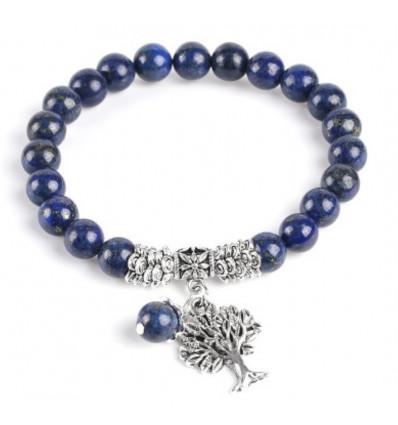 Bracelet Arbre de Vie - Lapis Lazuli naturel - Bonne humeur et amitié.
