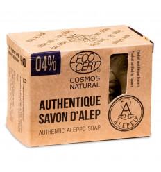 Savon d'Alep 200g. 4% huile de laurier, certifié Cosmos Natural.