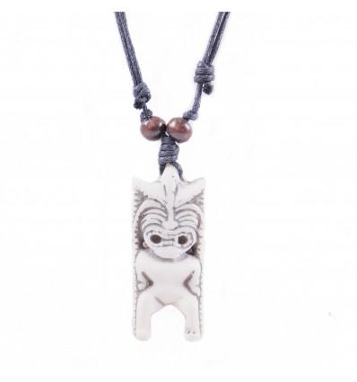 Collier mixte homme / femme avec pendentif Tiki - bijou polynésien