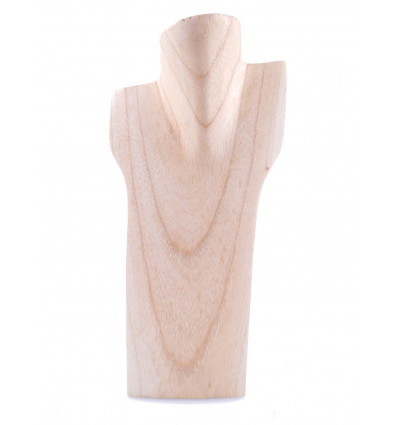 Bust display necklaces in solid wood gross H30cm