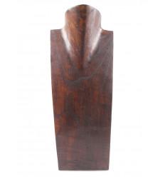 - Busto Visualizzare le collane in legno massello di cioccolato H35cm
