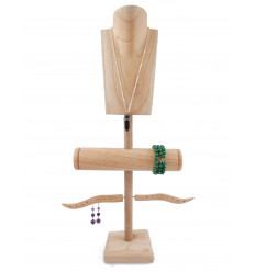 Mostra Gioielli di collane, anelli, bracciali e orologi. - legno massello lordo