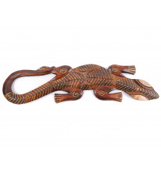 Gecko motif batik - wall decor wood 50cm