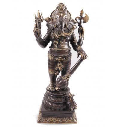Figurine Ganesh en bronze H40cm. Crafts asian.