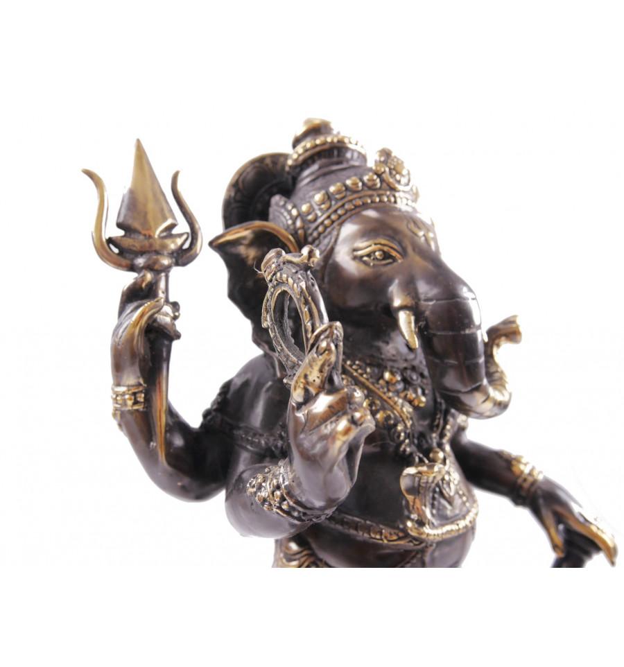 Ganesh Trompe A Droite détails sur statue ganesh en bronze h40cm. artisanat asiatique.