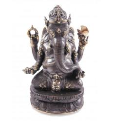 Statuette Ganesh en bronze H20cm. Artisanat asiatique.