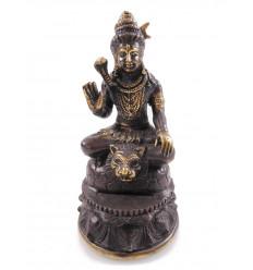 Statuette Vishnu en bronze H12cm. Artisanat asiatique.