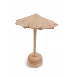 Display shape earrings for umbrella solid wood gross