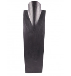 Display speciale lunghe collane H50cm busto in legno massello nero