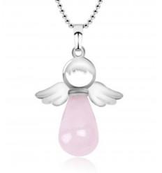 """Necklace """"My guardian Angel"""" Onyx genuine"""
