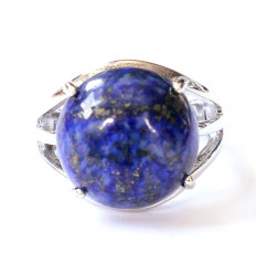 Bague Iris ornée d'un Lapis Lazuli - Anneau réglable