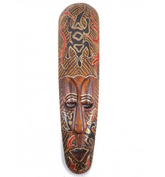 African mask wood pattern Gecko. Deco african.