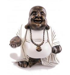 Statue Bouddha assis en méditation. Décoration maison asiatique zen.