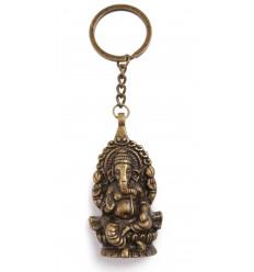 Porte clé Ganesh couleur bronze style ethnique petit prix.