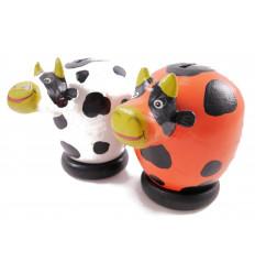 A saisir ! Lot de 2 tirelires vaches