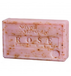 Marseille soap with natural rose petals. Hand-made soap.