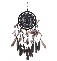 Gigante dream Catcher nero 65x22cm arredamento ricamo in pizzo all'uncinetto