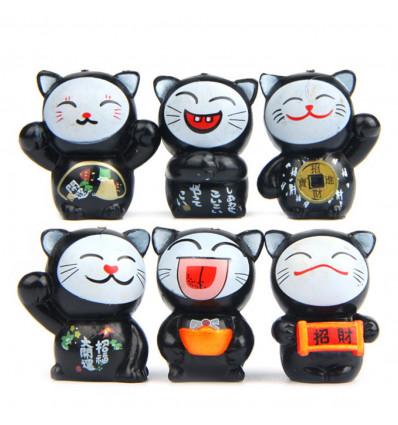 Lucky cats - Lot of 6 cats Maneki Neko - lucky charm