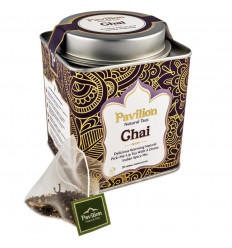 Black tea chai organic indian ayurvedic cinnamon, ginger, Pavilion.