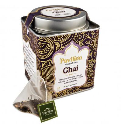 Black tea chai organic indian ayurvedic cinnamon, ginger, Pavilion.