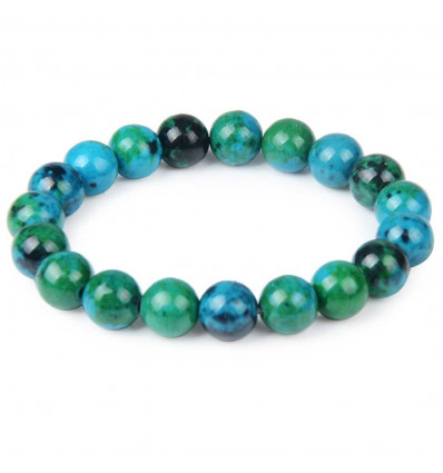 Bracelet Lithotherapie beads 10mm Chrysocolla - Stone in a quiet