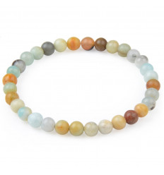 Bracelet Lithotherapie beads 6mm Amazonite natural - Soothing, spontaneity, anti-stress