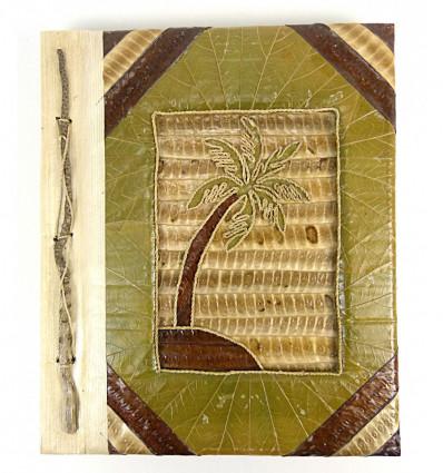 Album di foto di albero di palma al naturale, 40 punti di vista. Prodotto artisanalement.