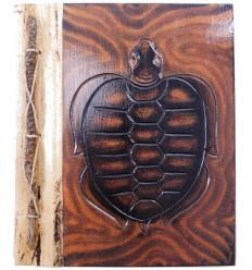 Album di foto di Tartaruga in legno naturale, 40 punti di vista. Prodotto artisanalement.