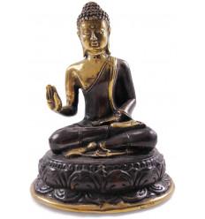 Statue Bouddha Shakyamuni en bronze. Posture assis Vitarka-Mûdra.