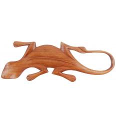 Gecko parete di legno, lavorati artigianalmente. Decorazione lucertola.