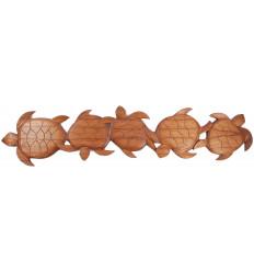 Arredamento parete tartaruga di legno, un fregio realizzato a mano a Bali.