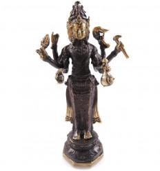 Statuette Trimurti en bronze 21Hcm. Artisanat asiatique.