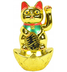 Maneki neko / Cat japanese golden lucky grand model H20cm