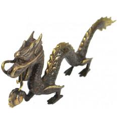 Statuette Dragon of Asia in solid bronze.