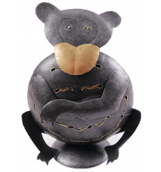 Candle holder monkey wrought iron 24cm