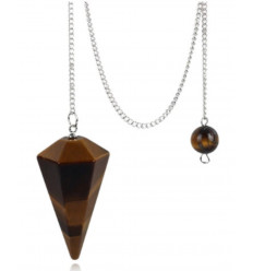 Pendulum in Amethyst, cone shape polished.