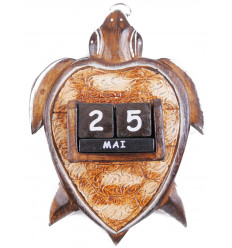 Perpetual calendar Turtle in the woods. Deco child's room.