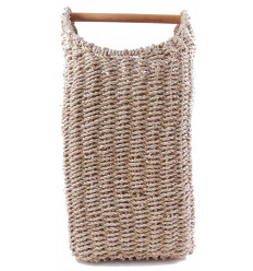 Extra-large storage basket in seagrass. Ethnic decoration and a bohemian.