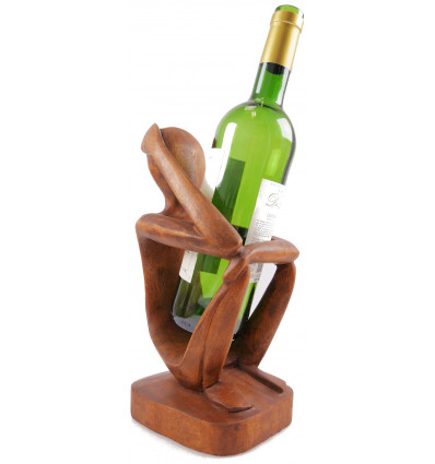 bottle rack display to bottle abstract statue thinker